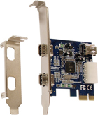 Unibrain FireBoard Blue-e 2-port 1394a OHCI PCI-Express Adapter (1213)