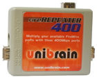 Unibrain FireRepeater 400 3-Port 1394a FireWire Repeater (1610)